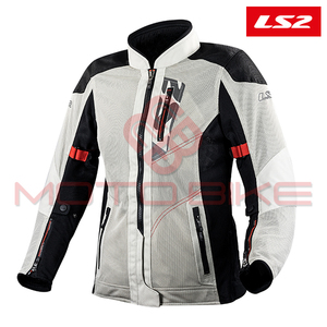 Jakna LS2 ALBA LADY LIGHT GREY BLACK M
